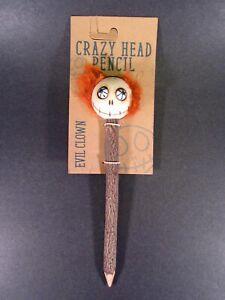 Crazy Head Wood Pencil Evil Clown Eco-Friendly NEW