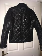 Michael Kors men's leather Quilted Jacket Size M