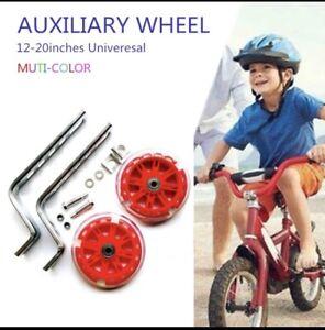 "Universal Kids Bike Training Wheels Stabilisers 12-20"" Children Bicycle balance"