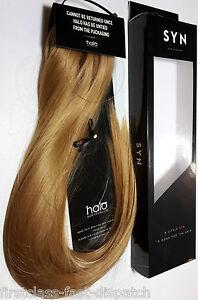 "Genuine Halo SYN 100g 18"" Full Head Hair Extensions Hidden Secret Halo Flip Wire"