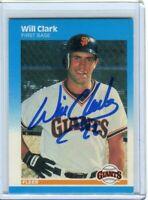 Will Clark Signed 1987 Fleer Rookie Card RC #269 San Francisco Giants Legend