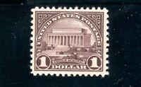 USAstamps Unused VF US Series of 1922 $1 Lincoln Memorial Scott 571 MLH