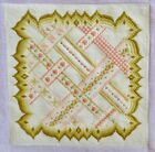 STITCHERY CHAIR / PILLOW TAPESTRY WITH OWL CORNERS COMPLETE 14x14 BEAUTIFUL!
