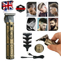 Professional Mens Electric Retro Hair Clippers Cordless Trimmer Beard Shaver Kit