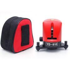 YD-810 2 Cross Red Line Laser Level Self-leveling Horizontal Vertical Measuring