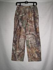 Gander Mountain Realtree AP Camo Waterproof Hunting Rain Pants Kids Boys M Brown