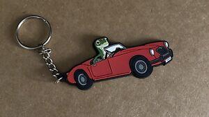 Vintage Geico Insurance Gecko in British Car Soft KeyChain