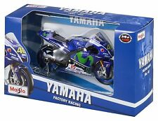 MAISTO MOTORCYCLE 1:18 YAMAHA FACTORY RACING - 2015 GP ROSSI V. #46 34589