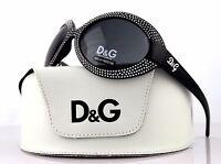 RARE NEW Authentic D&G Dolce & Gabbana Black Crystal Sunglasses DG 8038 B 501/87