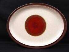 Potter's Wheel Rust Red by Denby Oval Serving Platter  Rust Red Center Brown Rim