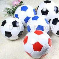 Students Pupils Kids Football Soccer PU Leather Lined Match Training Ball Size 3