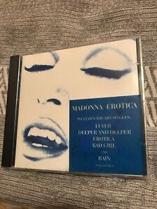 Madonna Erotica CD Blue Hype Sticker 1992 Rare Bad Girl Deeper Rain
