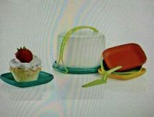 Tupperware Kids Mini Serving Set Play Toy Cake Taker & Plates