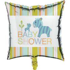 """Happi Jungle Baby Shower 18"""" Foil Mylar Balloon Zebra"""