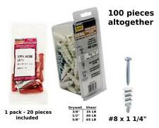 Self-Drilling Itw Brands 25310 Drywall Anchors Plastic - Quantity 4 #75 50-Pk