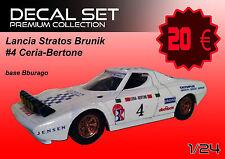 DECALS Decal set Lancia Stratos Brunik Ceria Bertone Bburago Burago 1/24 1 24