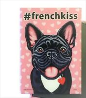 NEW FRENCH BULLDOG RETRO PETS PREMIUM MAGNET SET VINTAGE STYLE 2 DIFFERENT