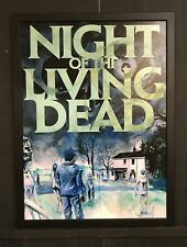 Night of The Living Dead Horror Cult Movie Framed Canvas Art 2017 NYCC Exclusive