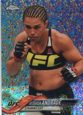 2018 Topps UFC Chrome JESSICA ANDRADE Diamond Hot Box Refractor Card #52