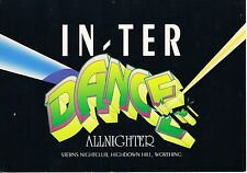 $ In Ter Dance Rave Flyer A5 21/3/92  Sterns Worthing