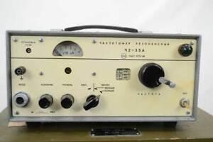 Frequenzmesser Tsch2-35A, russisch, im Holzksten mit Zubehör