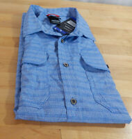 NWT Men's Gerry Short Sleeve Lightweight Quick Dry Perforated Ventilation Shirt