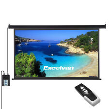 """New listing 100"""" 16:9 3D Hd Projector Screen Wall Ceiling Electric Motorized +Remote Control"""