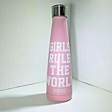 PINK Metal Water Bottle Girls Rule The World