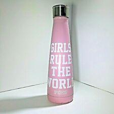 PINK Metal Water Bottle Girls Rule The World