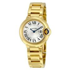 Cartier Ballon Bleu 18k Yellow Gold 28mm Quartz Watch Box/Papers 3006 W69001Z2