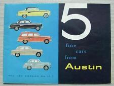 AUSTIN CAR RANGE Sales Brochure 1957 #1373  A105 A95 A50 A35 A95