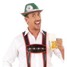 Tiroler Hut grün Fasching Hüte Karneval Kopfbedeckung Bayernhut Jäger Bayern