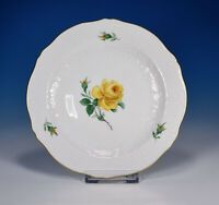 "Meissen "" Marseille Yellow Rose "" Cake Plate 18,5 CM"