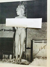 Vintage poster Yvonne D'angers off Broadway nude pin-up girl cabaret strip club