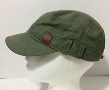 Roxy Olive Green Khaki Military Style Adult Cadet Cap Hat