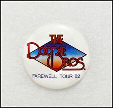The Doobie Brothers 1982 Farewell Concert Tour Button Pin Badge