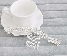 Diamante Hair Comb Crystal Bridal Headdress Rhinestone Wedding Accessories 1 PC
