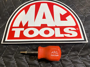 Mac Tools P983AR Hard Red Handle 5/32 Clutch Head Stubby Screwdriver - USA
