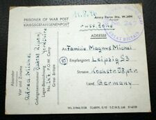 PRISONER OT WAR POST CARD POST-WW2 1946 KRIEGSGEFANGENENPOST , UK to GERMANY