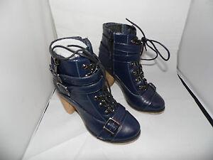 Linea Tesini Stiefelette Schuhe in Marine NEU 36+41