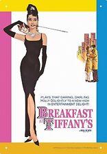 Plaque Métale Audrey Hepburn Breakfast At Tiffanys(nm)