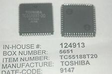TOSHIBA TC55188T-20 52-Pin Plastic PLCC Integrated Circuit New Quantity-1