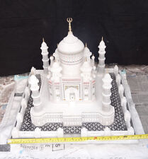 "18"" Marble India Taj Mahal Mughal Kalin Shahjahan Filigree Art Living Home Gifts"