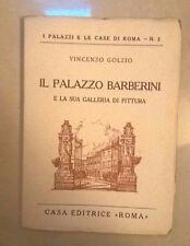 IL PALAZZO BARBERINI E LA SUA GALLERIA DI PITTURA GOLZIO ANNI '20