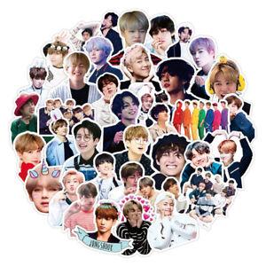 50 Pcs BTS Sticker Pack K-Pop Bangtan Boys Laptop DIY Decals Cute Vinyl Stickers