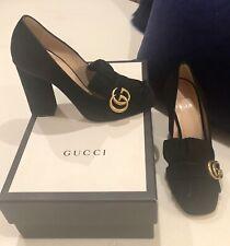Gucci Marmont suede black heels