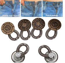 6Pcs Pants Waist Extenders Button Jeans Skirt Expander Perfect Fit Metal Button