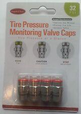 Tire Pressure Monitoring Valve Caps - 4 pack Chrome