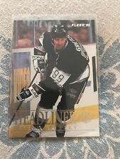 WAYNE GRETZKY 1995 96 Fleer #4 Kings HEADLINER INSERT
