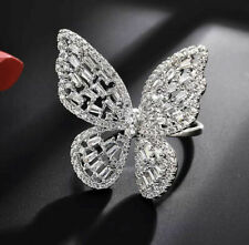 Zirconia Butterfly Statement Ring *New* *New* Baguette & Round Cut Cubic